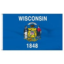 3x5 State of Wisconsin Flag 3'x5' House Banner Super Polyester grommets premium