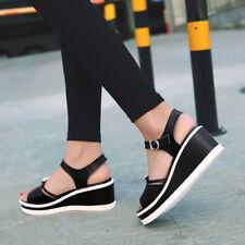 Sandalias elegantes zuecos cuña zapatillas nero 6 cómodo como piel 9804
