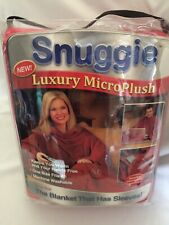 Snuggie Luxury Mirco plush Blanket with Sleeves Red New