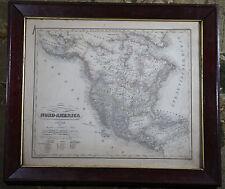 NORTH (NORD) AMERICA - RARE VINTAGE ORIGINAL 1837 CARL GLASER LITHOGRAPH MAP