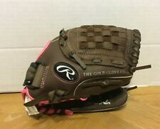 "Rawlings Fastpitch Softball Glove Mit 11"" Leather Youth Right Hand Thrower FP11T"