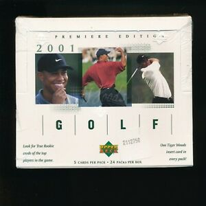 2001 Upper Deck Golf Factory Sealed Hobby Box Tiger Woods Possible Free Shipping