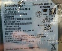 "Seagate ST380815AS 9CY131-313 80GB 7200RPM SATA Slim 3.5"" Hard Drive. Qty Avail"