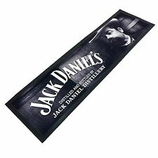 Jack Daniels Cameo Face BAR RUNNER - Man Cave Den Pool Room Fathers Day Xmas