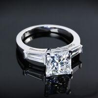 1.75 Carat H/VVS2 Three 3 Stone Diamond Engagement Ring 14K White Gold