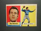 1957 TOPPS FOOTBALL CARD  #47 DON HEINRICH   NEW YORK GIANTS