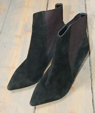 Ladies French Connection short boots, black suede size 6