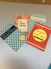 4 Vintage booklets 1940/1950's 2 with Illustrated Recipes 2 of Hints