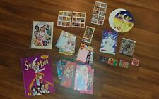 Large Lot of Sailor Moon Cards Stickers Books + More