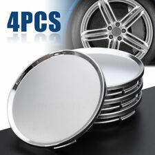 4X Universal 63mm Car Vehicle Wheel Center Hub Cap Covers NO Badge Emblem Silver