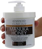 Advanced Clinicals Spa Size Manuka Honey Cream 16 Oz (454g)
