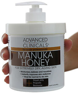 Advanced Clinicals Spa Size Manuka Honey Cream 16 Oz (454g)