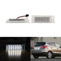 2x LED License Number Plate Light Error Free for 91-98 BMW 3 Series E36 Models