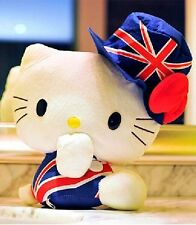 30cm Hello Kitty British Flag Plush Toy Collectible Toy Hat Style