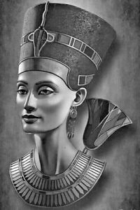 Egyptian Queen CANVAS PICTURE PRINT 20X30INCH