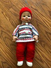 "Vintage Eegee Dulton Solftina Boy Doll Drinks & wets 15"""