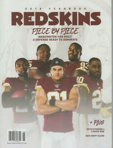 2019 WASHINGTON REDSKINS OFFICIAL YEARBOOK IN STOCK LAST YEAR OF NAME