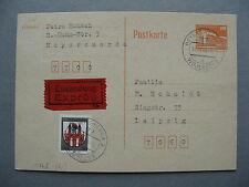 GERMANY DDR, uprated prestamped expresse PC 1986, Palast der Republik, Railway