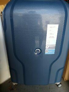 "delsey hardside 30"" spinner luggage ""CLAVEL"" BLUE JEAN COLOR, TSA LOCK!"