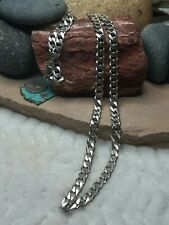 "Large 67g 25"" Cuban 8mm Link NECKLACE Biker Chain Sterling Silver No Scrap"