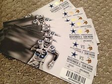 Dallas Cowboys vs Minnesota Vikings 11/3/13 Unused Ticket - DeMarco Murray