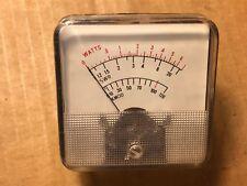 NOS Vintage SWR Meter Marked Watts SWR Percent Modulation Ham Radio 100029-004