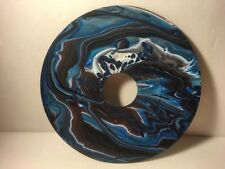 """7"""" Vinyl Music Record Wall Art - Fluid Acrylic Flowing Poured Paint 004"""