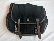 Ralph Lauren RRL VINTAGE Wool & Leather Messenger Bag EXC CONDITION Green Balck