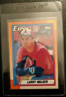 1990 TOPPS #757 LARRY WALKER ROOKIE CARD RC MONTREAL EXPOS MINT HALL OF FAME HOF