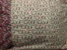 Cat head pattern 100% new Cotton handmade Pillowcase one pair