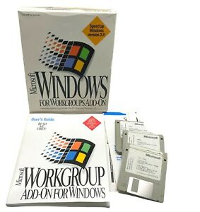 Microsoft Windows for Workgroups Add-On Upgrade for 3.1