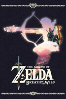 Zelda Breath of The Wild Silhouette Video Gaming Poster 24x36 inch