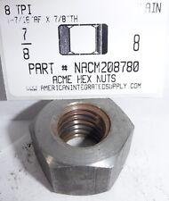 78 8 Acme Hex Nut Steel Plain 1 716 Hex X 78 Thick 1