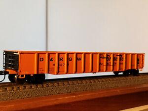 HO Walthers Trainline Denver & Rio Grande Western gondola #56275 with old tie lo