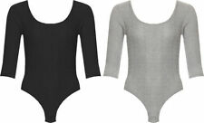 3/4 Sleeve Machine Washable Solid T-Shirts for Women