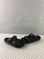 Birkenstock ARIZONA EVA Black Birko-Flor Buckle Slide Sandals Women's Size 39 N