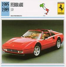 1985-1989 FERRARI 328 Classic Car Photo/Info Maxi Card