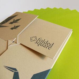 Green Origami Paper | 100 Sheets, 15cm Square | Pantone 390