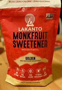 Lakanto Monk Fruit Sweetener All Natural Sugar Substitute Golden 28.22 OZ Keto