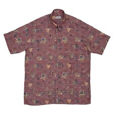 80s Vintage Paul Smith Shirt XL Short Sleeve Spring Summer Holiday Hawaiian