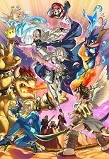 Super Smash Bros Poster Ultimate Melee Brawl Collectors Art - 11x17 17x25 - NEW