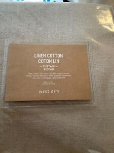 """NEW West Elm Linen/Cotton Fully-Lined Drapery/Curtain Panel - ONE  48"""".  108"""""""