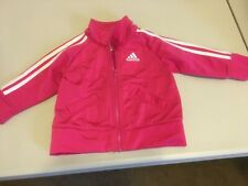 Infant Adidas Zip Up Sweater Baby Pink Size 6 Month- Euc