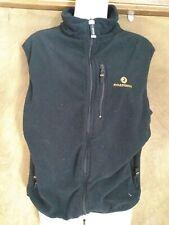 Vintage Rossignol Fleece Vest Jacket S Black Ski tect rn 78886