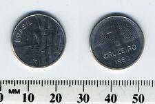 Brazil 1980 - 1 Cruzeiro Stainless Steel Coin - Sugar cane