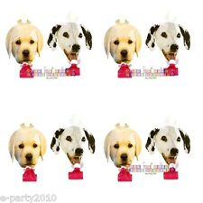 PUPPY PARTY PAPER BLOWOUTS (8) ~ Dog Birthday Party Supplies Favors Dalmatians