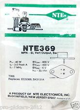 Nte Nte369 Silicon Npn Transistor Tv Vertical Deflection, Switch Replaces Ecg369