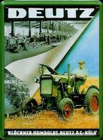 Postal metal Deutz Tractor Fabrica / mini-signo