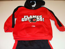 2012 Calgary Flames NHL Hockey Age 2 Team Kids Child 2 Pc Hoodie Pants Duo Set