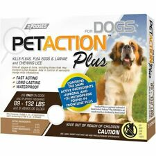 PetAction Plus Flea & Tick Treatment For Extra Large Dogs 89-132 lbs 3 Month